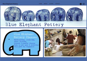 blueelephantpottery.co.uk website