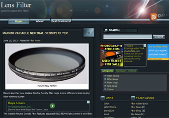 Lens Filter.co.uk website