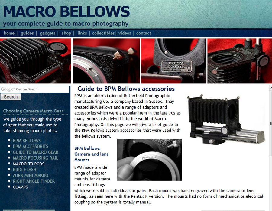 Macro Bellows.com website