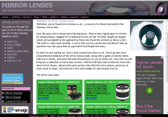 Mirror Lenses.co.uk website