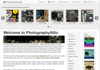 Photography Attic.com website