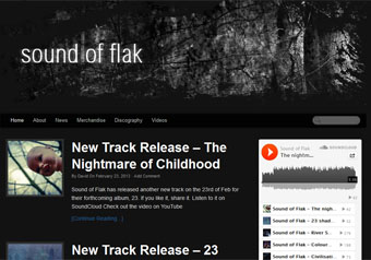 Sound Of Flak.com website